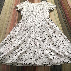 Vintage 1960s Babydoll Dress Square Polka Dot Cute